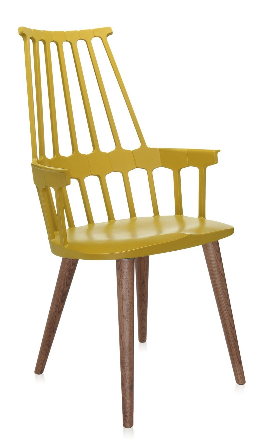 Kartell Comback Four Wooden Leg Chair (Priced Each, Sold in Sets of 2)