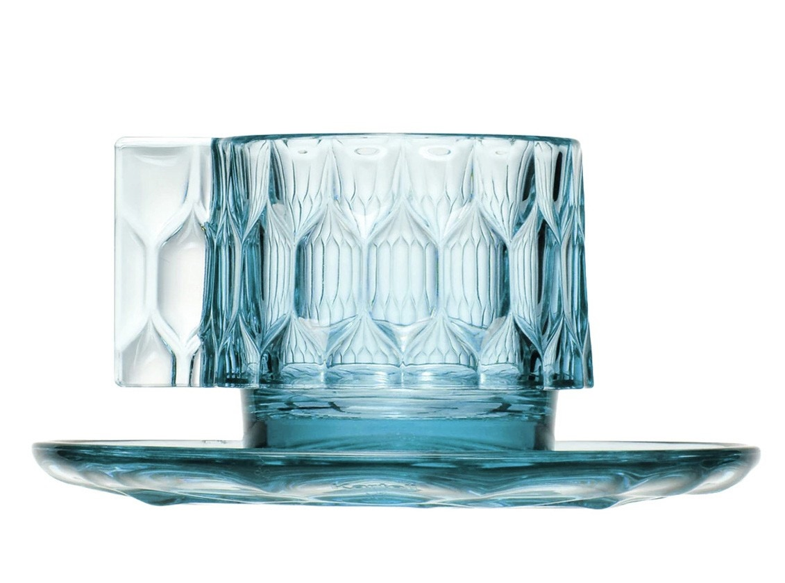 Kartell Jellies Coffee Cup with Plate (Priced Each, Sold in Sets of 4)