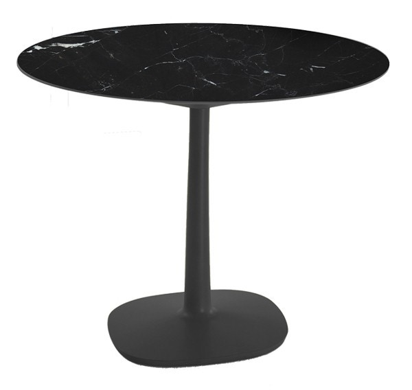 Kartell Multiplo Large Square Base Outdoor Table - Round Top