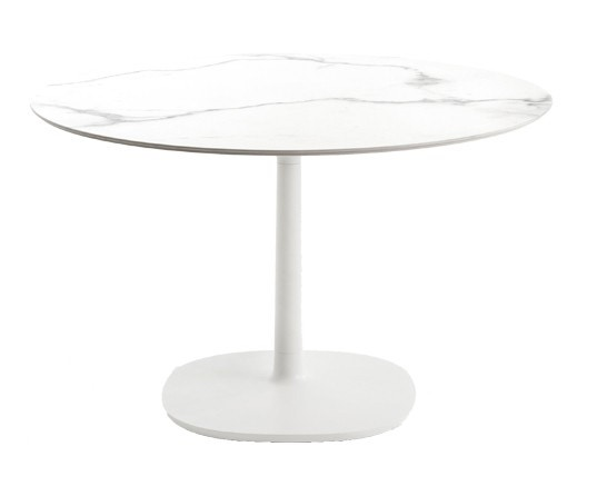 Kartell Multiplo Small Square Base Outdoor Table - Round Top