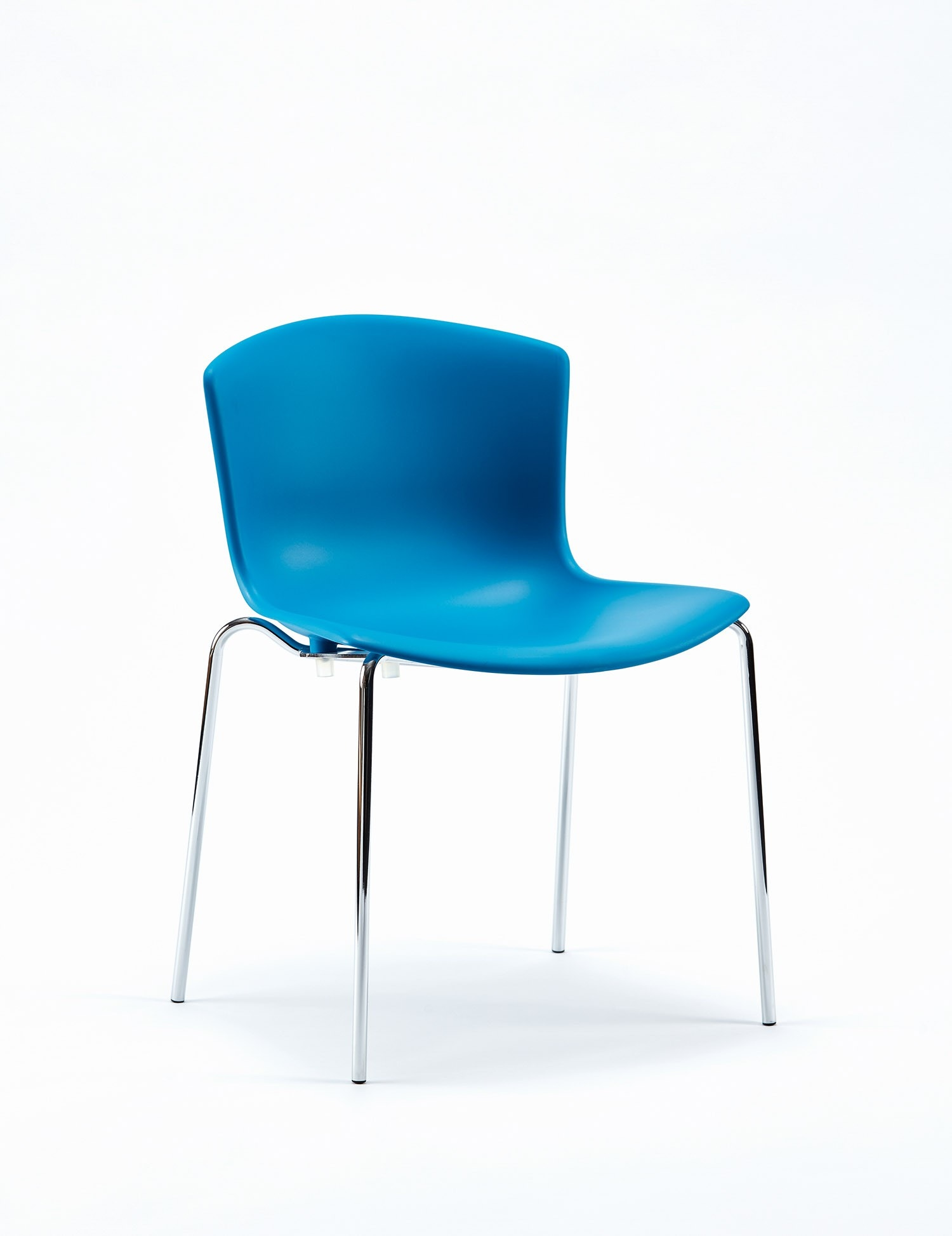Knoll Harry Bertoia Molded Shell Side Chair, Stacking Base