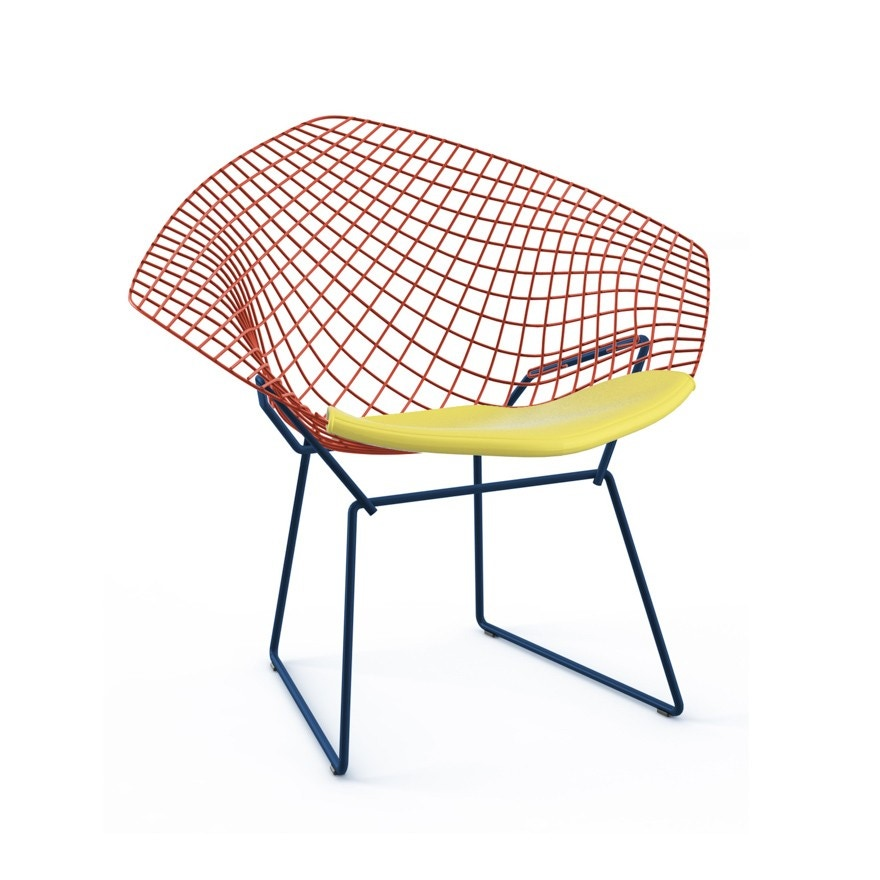 Knoll Harry Bertoia Two-Tone Diamond Lounge Chair