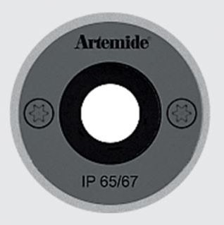 Artemide Ego 55 Drive Round Over Recessed Floor Lamp (o)
