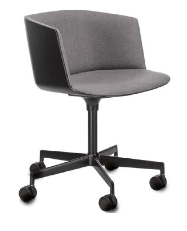 Lapalma Cut S184 Swivel Base Armchair (Front Upholstered)
