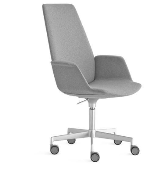 Lapalma Uno S242 Swivel Base Height Adjustable Armchair with High Back