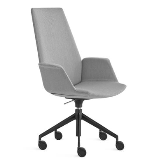 Lapalma Uno S243 Swivel Base Height Adjustable Armchair with High Back