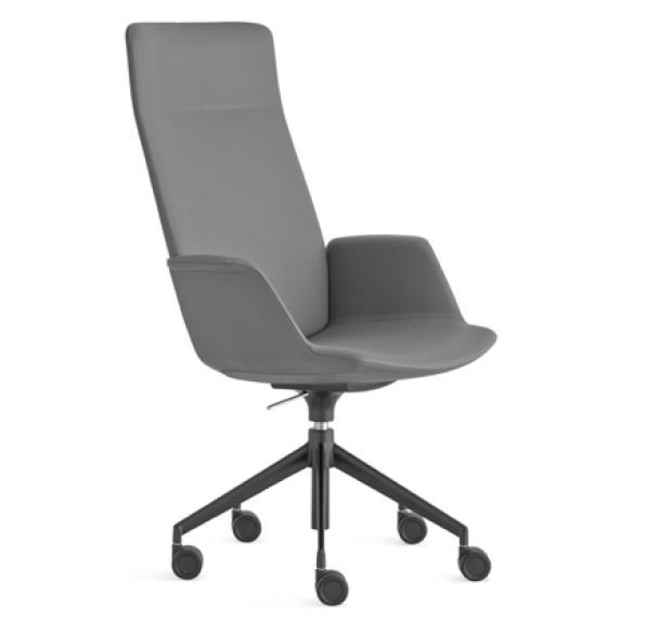 Lapalma Uno S253 Swivel Base Height Adjustable Armchair with High Back