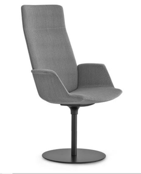 Lapalma Uno S259 Round Base Armchair with High Back