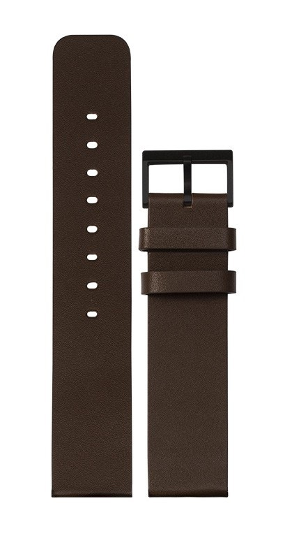 Leff Amsterdam Tube T40 Watch Brown Leather Strap