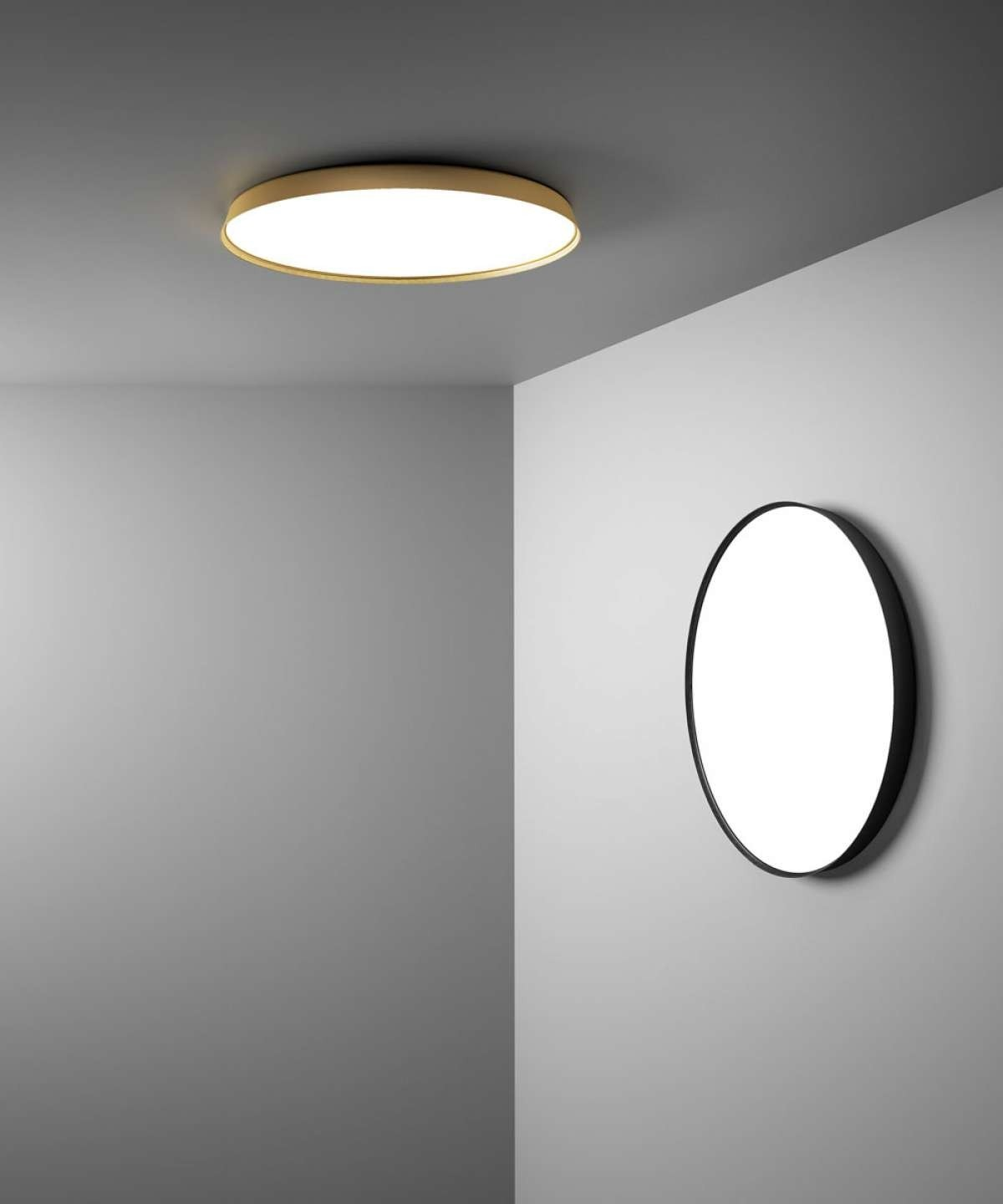 Luceplan D81P Compendium Plate Wall/Ceiling Lamp