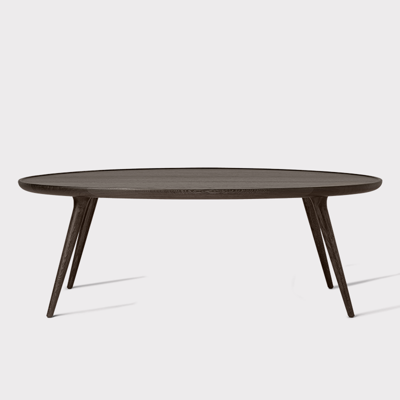 mater accent oval coffee table, sirka grey oak - modern planet