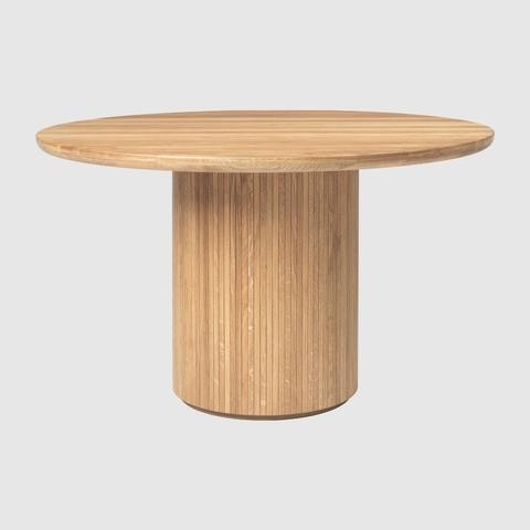 GUBI Moon Round Dining Table - Wood Top