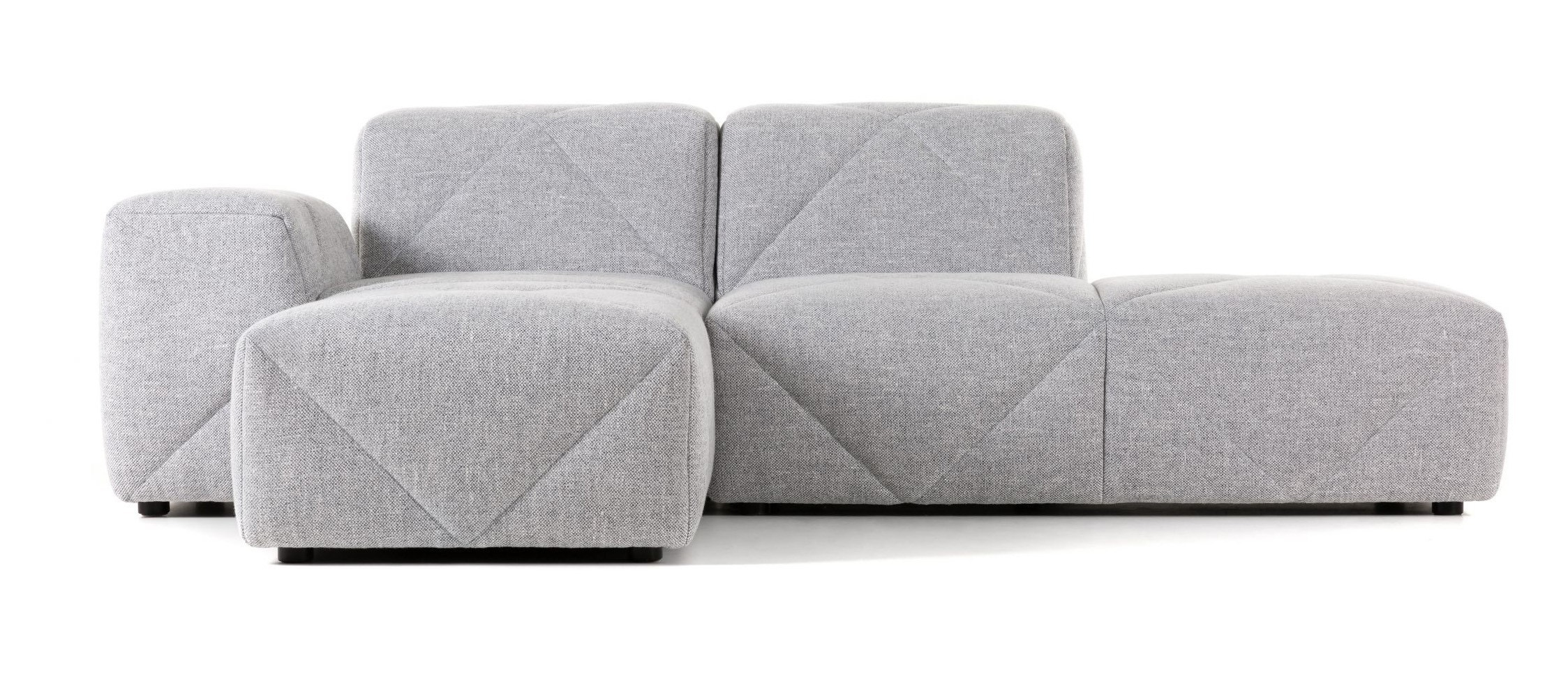Moooi Best Friend Forever (BFF) Sofa in Vesper Silver (Quick Ship)