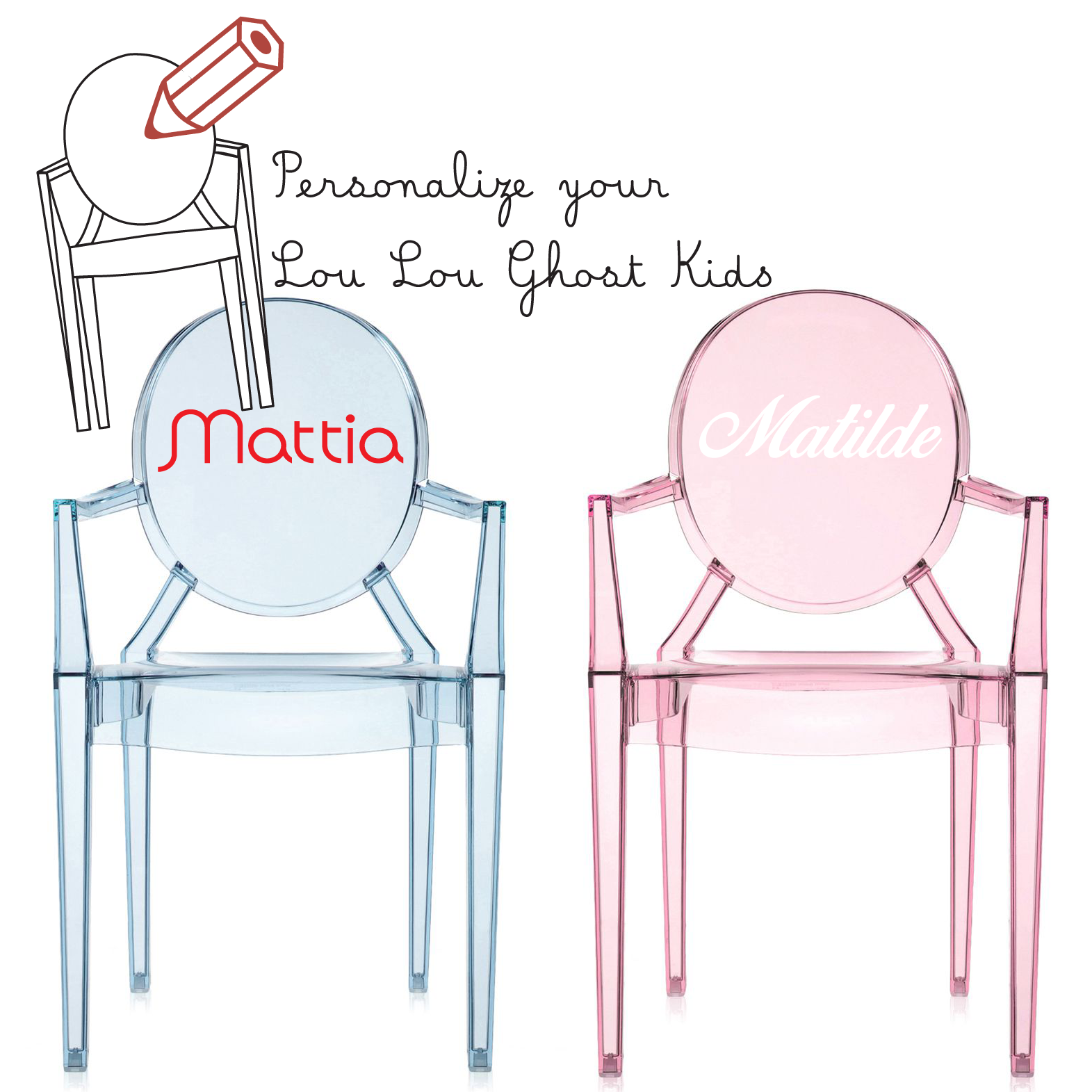Kartell Lou Lou Ghost Custom Chair - Modern Planet