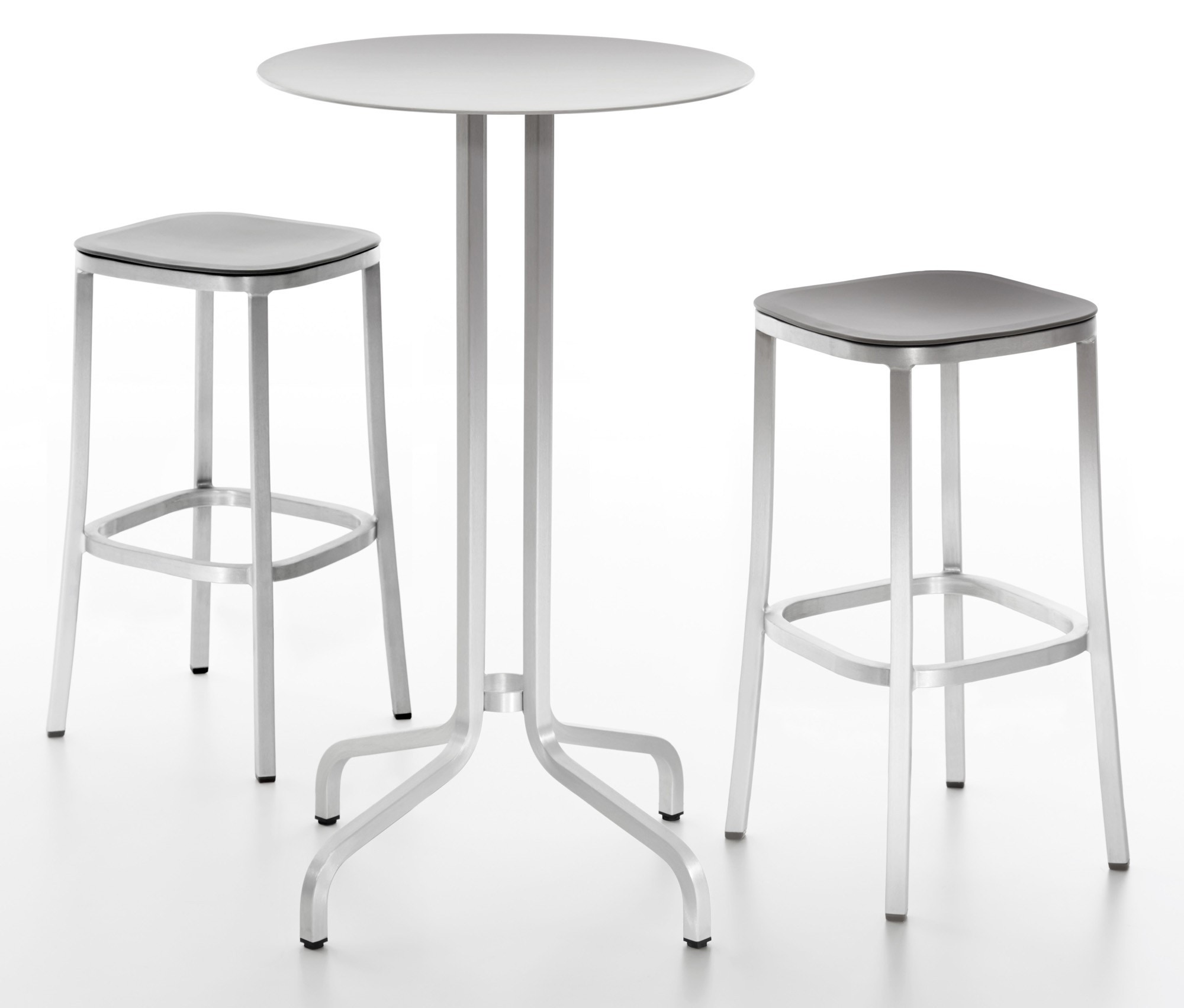 Emeco 1 Inch Bar Table By Jasper Morrison, Round Or Square