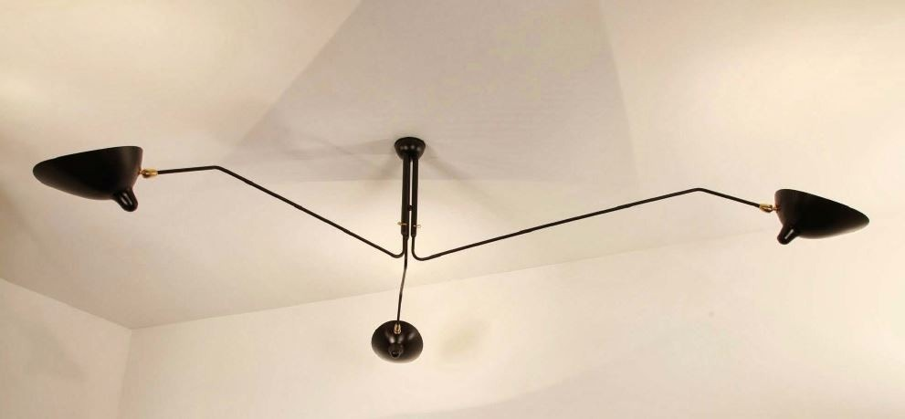 Serge Mouille Ceiling Lamp 3 Rotating Arms