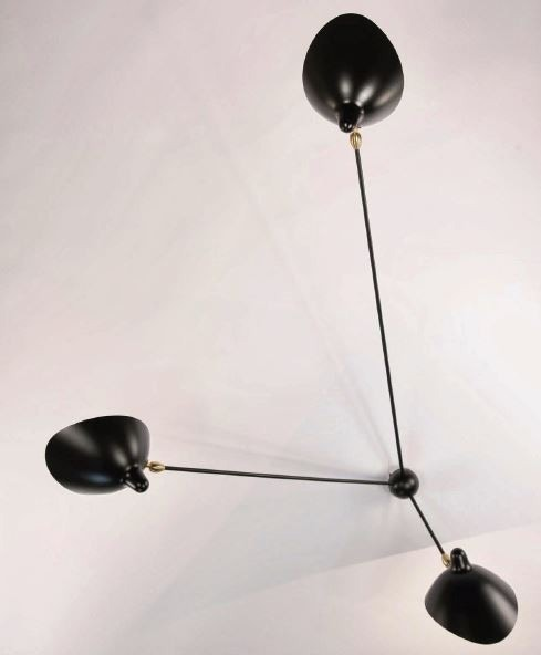 Serge Mouille Spider Large Wall Lamp - 3 Still Arms