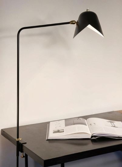 Serge Mouille Simple Agrafee Desk Lamp