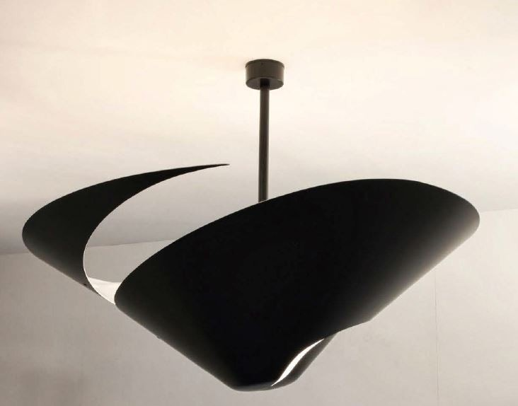 Serge Mouille Snail Ceiling Lamp