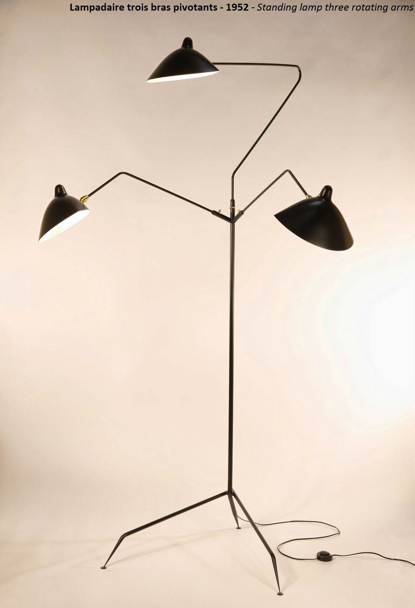Serge Mouille Standing Floor Lamp - 3 Arms