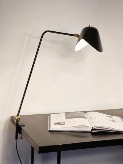 Serge Mouille Two Rotulas Agrafee Desk Lamp