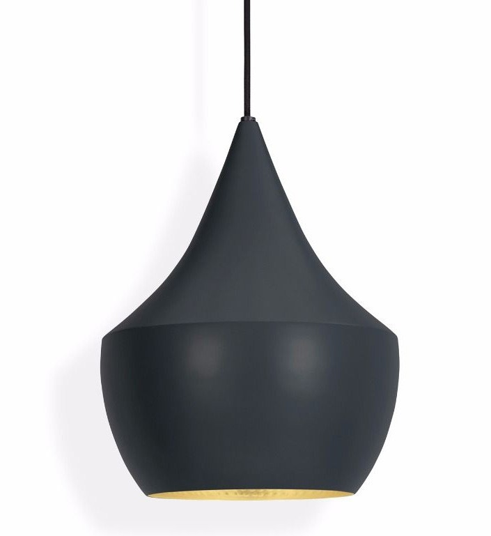 Tom Dixon Beat Fat Pendant Lamp, Black