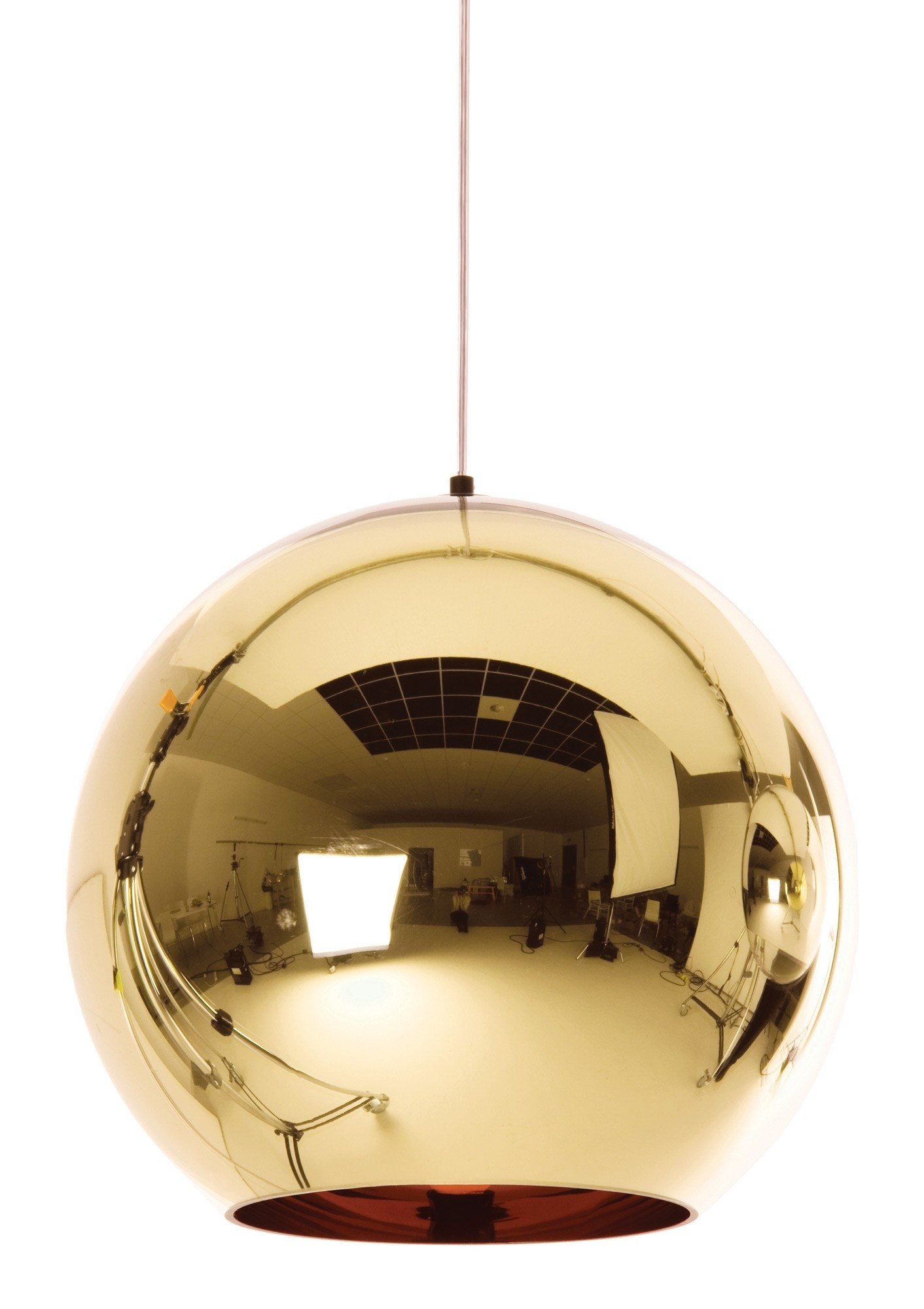 Tom Dixon Copper Round Bronze Pendant Lamp