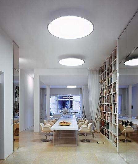 Vibia Big 0530/0531 Flush Mount Ceiling Lamp with Ring