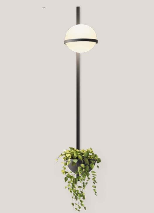 Vibia Palma Vertical Wall Lamp with Planter
