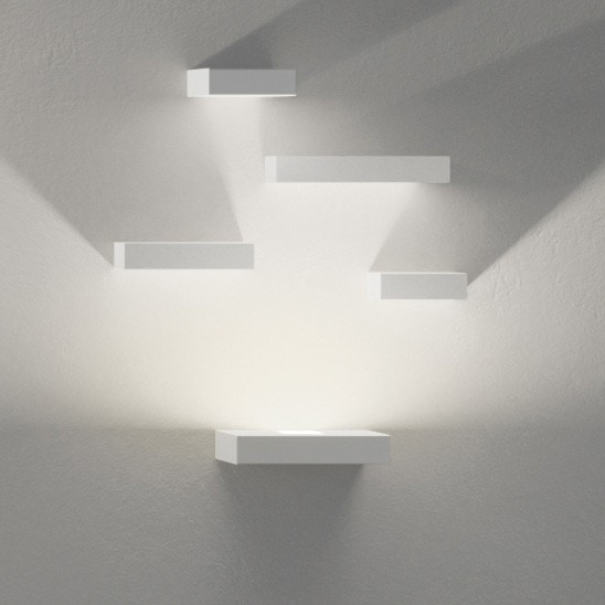 Led Four Reflector Block Wall Lamp