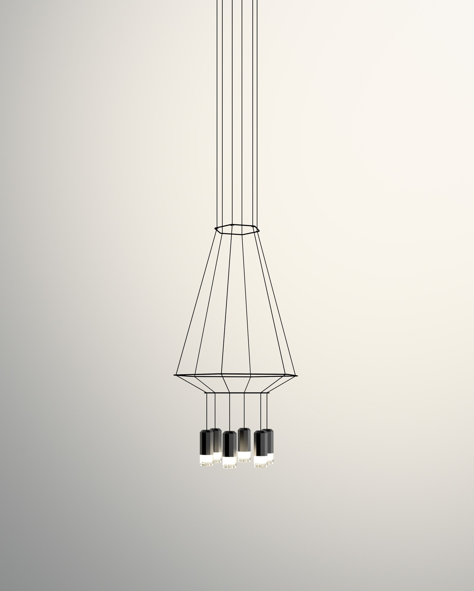 Vibia Wireflow Hexagonal Pendant Lamp 1