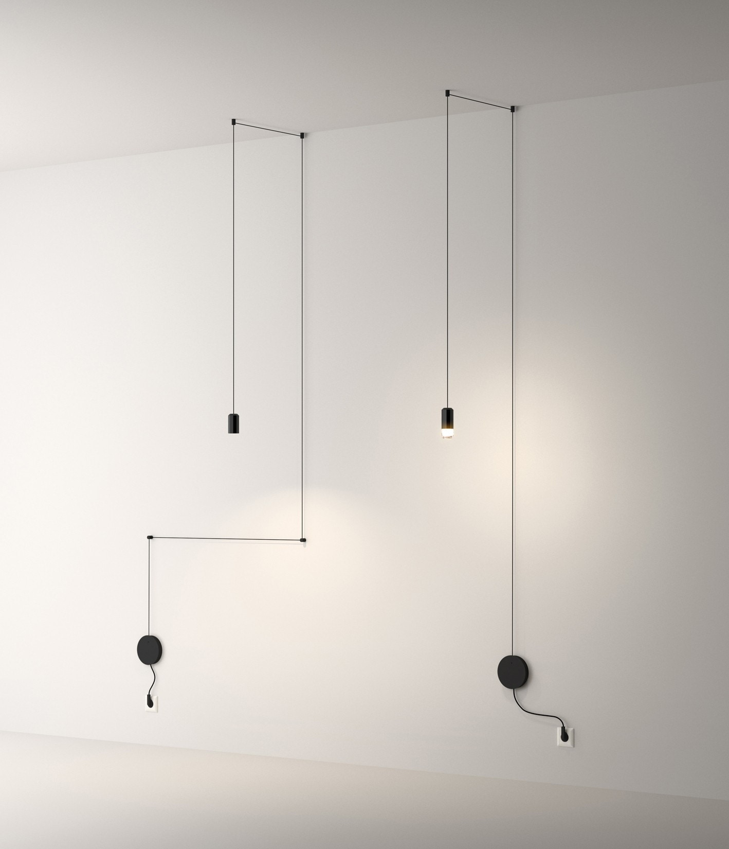 vibia wireflow free form with plug pendant lamp modern planet. Black Bedroom Furniture Sets. Home Design Ideas