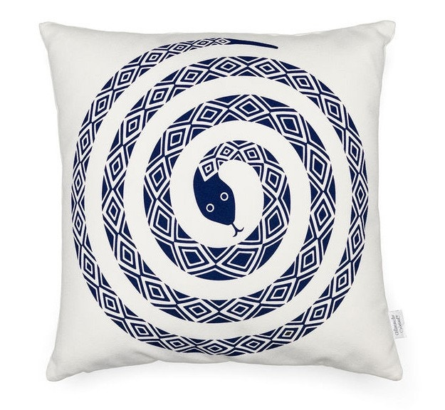 Vitra Graphic Print Pillow - Snake
