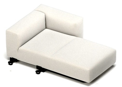 Vitra Soft Modular Sofa - Chaise Longue Element, Right - Modern Planet