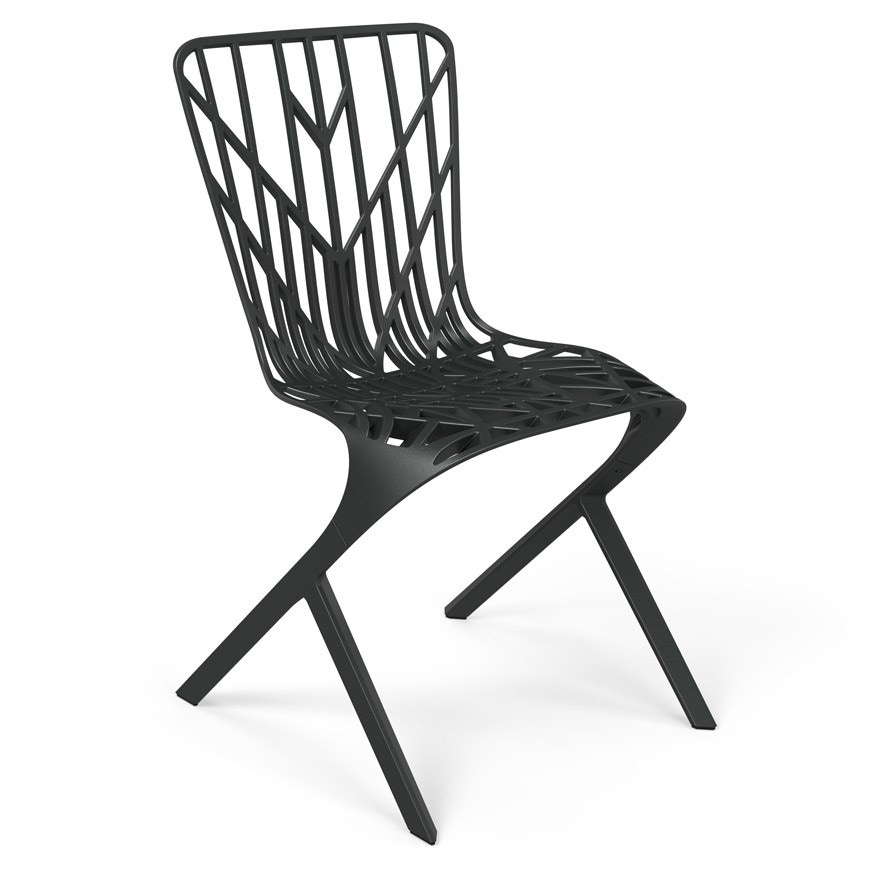Knoll David Adjaye - Washington Skeleton™ Aluminum Side Chair, Outdoor