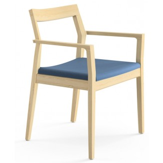 Knoll Marc Krusin   Guest Seating Collection Krusin Side Chair With Arms