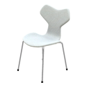 Fritz Hansen Grand Prix Chair with Chromed Base (Fully Upholstered)