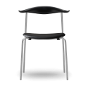 Carl Hansen & Son CH88P Dining Chair with Chrome Frame - Upholstered