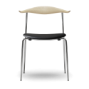 Carl Hansen & Son CH88P Dining Chair with Stainless Steel Frame - Upholstered