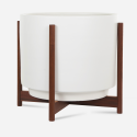 Modernica Case Study® Ceramics Raised Large High Pan with Wood Stand