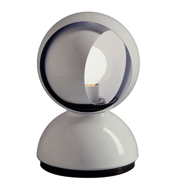 Artemide eclisse table lamp modern planet polished white aloadofball Image collections