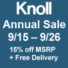 The Knoll Sale  Save 15%