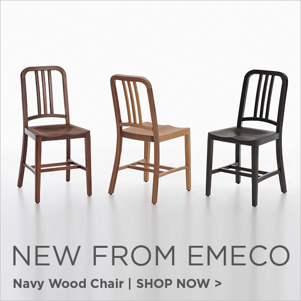 New from Emeco, Navy Chair in Wood